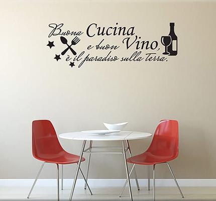 Adesivi murali vino 1